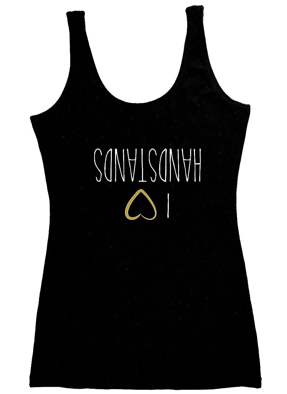 TREELANCE Organic Cotton Black White Yoga Workout Tank Tops Shirts Graphic Tees for Women