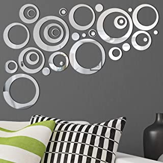 Removable Wall Sticker Decal Acrylic Mirror Setting for Home Living Room Bedroom Decor..