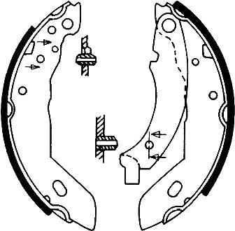 Mapco Trommelbremsbacken