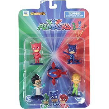 Pj Masks Pencil Toppers Blister 5 (S1) - Owlette, Romeo, Owl Glider, Catboy, Greg for Kids 3+ & Above