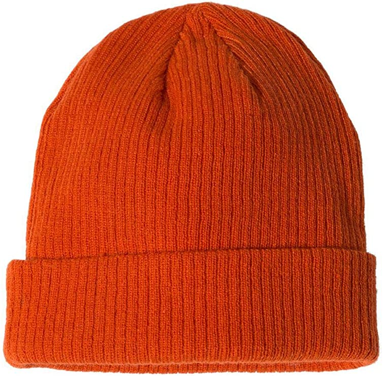 Champion - Ribbed Knit Cap - CS4003 - One Size - Spicy Orange: Amazon.es: Ropa y accesorios