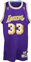 adidas Kareem Abdul-Jabbar Los Angeles Lakers Purple Throwback Swingman Jersey