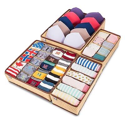 MIU COLOR Closet Underwear Organizer Drawer Div...