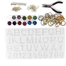 Epoxyhars Mallen, Crystal Epoxy Mold Kit, DIY Alfabet Nummer Siliconen Mal, Ketting Hanger Hars Sieraden Maken Gereedschap