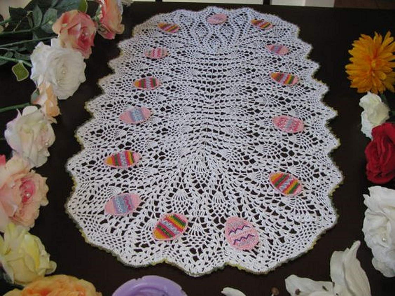 Brand new Boston Mall handmade kronecrochet crochet easter doily croche egg Max 85% OFF