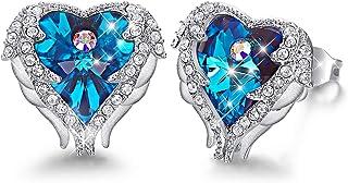 CDE Angel Wing Swarovski Earrings Women Silver Plated...