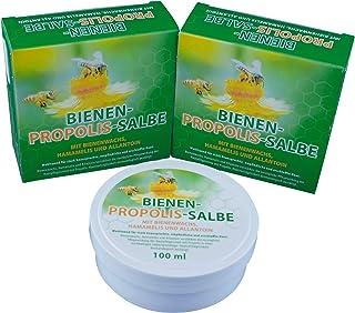 Bienen Propolis Salbe mit Propolis, Bienenwachs, Hamamelis und Allantoin 100ml von Bienen Diätic ohne Konservierungsstoffe, 3 Stück