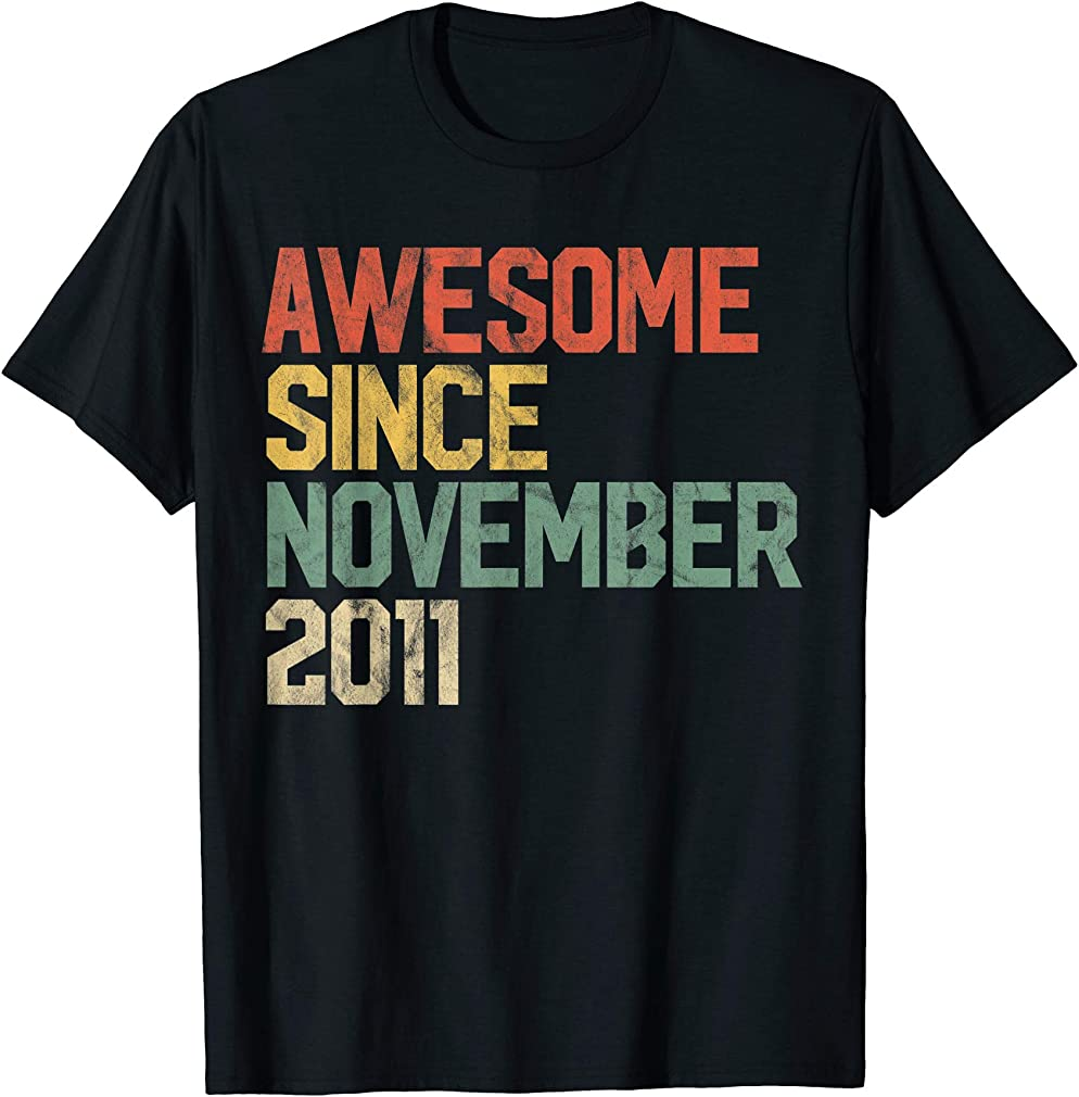 Awesome Since November 2011 8th Birthday Gift 8 Year Old T-shirt