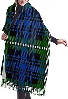 Scarf Womens Warm Winter Clan Forbes Tartan Print Classic Tassels Blanket