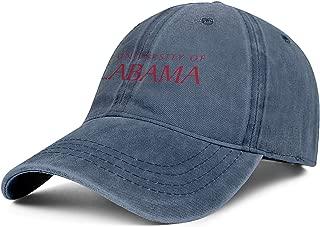 Unisex The-University-of-Alabama- Baseball-Cap Hat - Classic Adjustable Sports Cowboy Hat