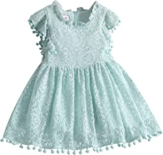 TTYAOVO Little Girls Lace Embroidered Holiday Casual Dress