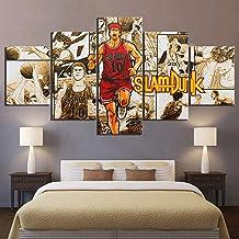 Anime boy pictures Hanamichi Sakuragi SLAM DUNK poster 5 pieces of basketball comic artwork canvas wall decoration painting