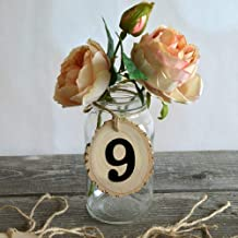 New 1-10 Numbers Wooden Hanging Table Cards Place Holder Table Number Figure Card Digital Seat Decor Wedding Party Supplies