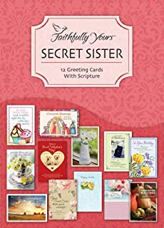 Secret Sister - All Occasion Boxed Greeting Cards - Mixed Scripture - (Box of 12)
