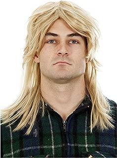 Mens Mullet Wigs Dark Blonde 80s Costumes Mens Mullet Wig Merica Blonde Brown Black Joe Dirt White Trash Costume Accessories