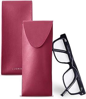 Lensrappa /Étui /à lunettes fin en cuir 6 couleurs