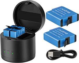 Sponsored Ad - JYJZPB Hero 8/7/6 Replacement Batteries(2-Pack) and 3-Channel Round Storage LED USB Charger Case for GoPro ...