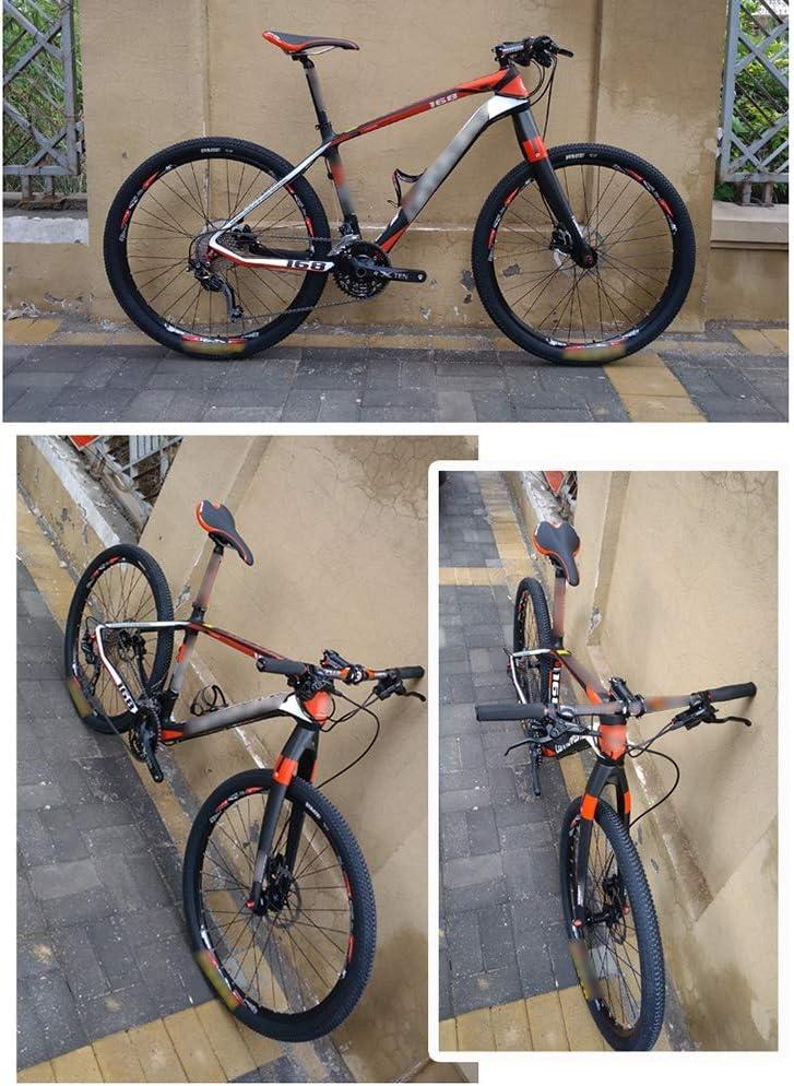 Zatnec Disc Brake Suspension Fork, 26/27,5/29 Inch Bicycle Hard Fork, Carbon Fiber Voorvork Met Cone Tube Mountain Bike Red