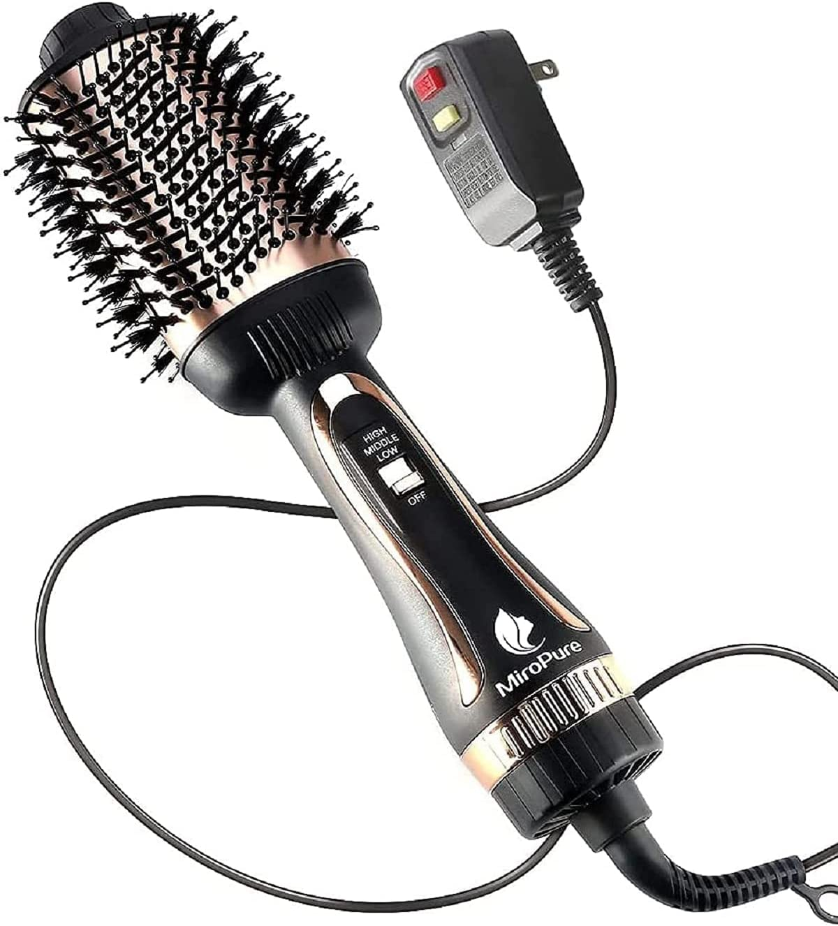 Hair Dryer Brush,Hot Air Brush,Blow Dryer Brush for Women One-Step Hair Styling Tools & Appliances 1000W with Leakage Protector, Professional Salon Negative Ion Anti-Frizz, Hair Brush Blow Dryer : Beauty & Personal Care