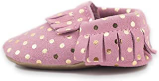 Baby Moccasins Soft Leather Sole Infant Shoes and Toddler Moccasins for Boys and Girls