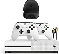 Xbox One S 1TB HDD with Two Wireless Controllers (Previous Model), and Mytrix Accessories for Xbox