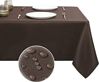YURIHOME Rectangle Tablecloth Brown Drop Table Cloths for Rectangle Tables 60 x 102 Farmhouse Outdoor Picnic Desk Table Co...