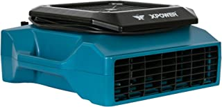 XPOWER XL-730A 1/3 HP, 1150 CFM, 5 Speed Sealed Motor Low Profile Fan, Air Mover, Carpet Dryer with Build-in GFCI Power Outlets for Daisy Chain (ABS)