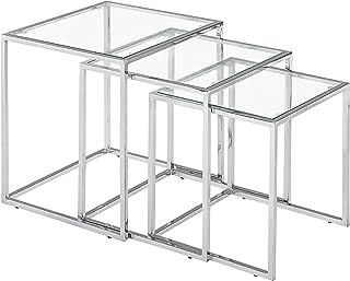 Zuo Pasos Nesting Table, Chrome