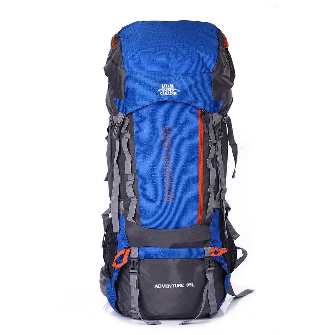 Mooedcoe 95L Mochila Trekking Senderismo Grande Mochila Montaña Hombre Impermeable de Viaje Acampada Excursionismo Alpinismo (Azul): Amazon.es: Deportes y aire libre