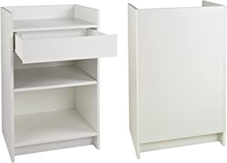 White Well Top Register Stand - Ready to Assemble by Only Garment Racks