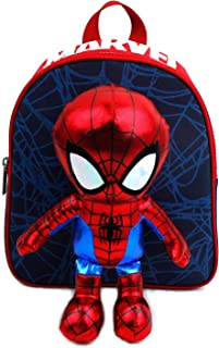 MARVEL Spider Man Doll Removable for Play Backpack with Safety Harness for Kids Toddlers