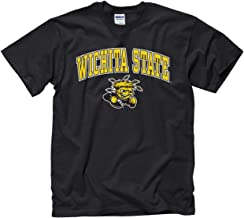 Campus Colors Wichita State Shockers Adult Arch & Logo Soft Style Gameday T-Shirt - Black, Large