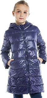IKALI ボーイガールパッカブルダウンジャケット、春 フード コート、軽量/耐水性