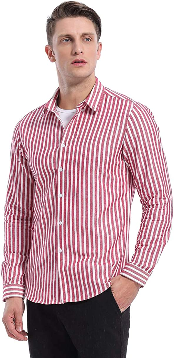KOGO Men's Dress Shirts Slim Max 49% OFF Fit N San Diego Mall Down Solid Casual Button