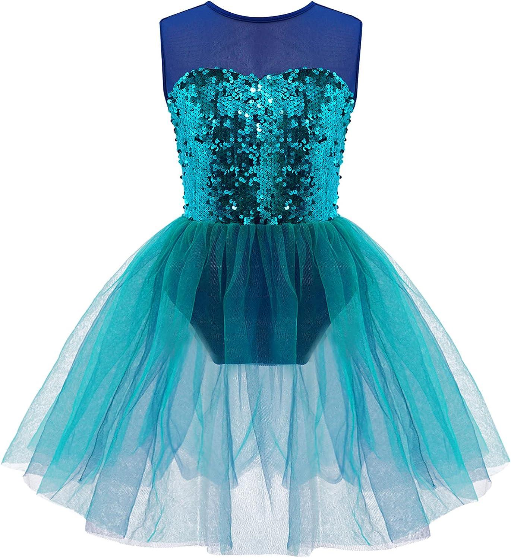 Jowowha Kids Girls Trust Sequin Camisole Tulle Dress Leotard Popularity Ballerina