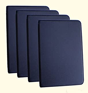 Mead (46000) Four Mini 6-Ring Black Memo Books, Each Containing 3 x 5 inch Lined Paper