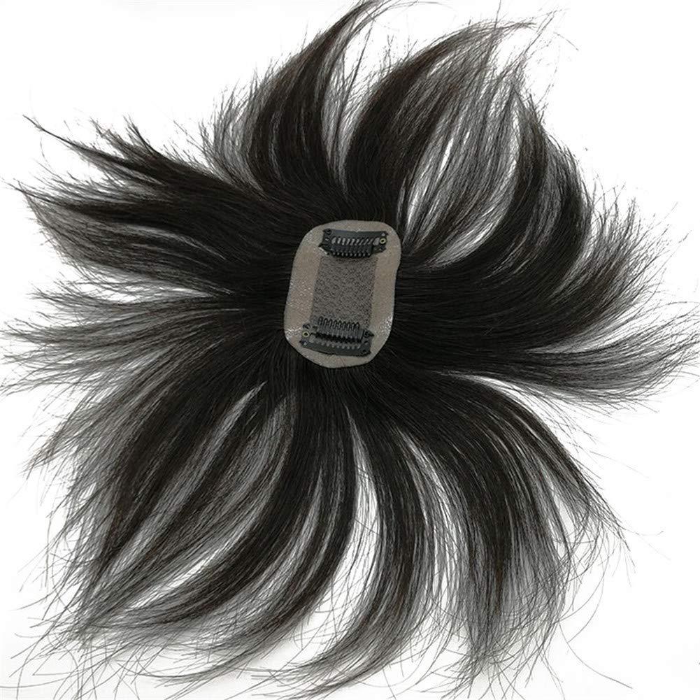 Remeehi Human Hair 新商品 Straight Topper Short おすすめ特集 5x8cm Crown on Clip Hai