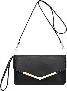 0df13264c3 CRAZYCHIC - Grand Portefeuille Long Style Cuir PU - Pochette Soirée  Enveloppe Femme - Mini Sac