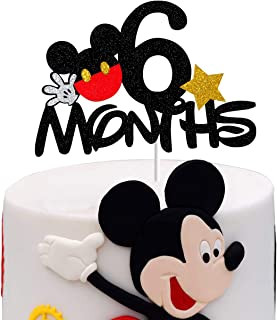 Mickey 6 Months Cake Topper,Mickey Mouse 1/2 Half Birthday Party Decorations