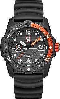 ساعة يد لومينوكس بإصدار محدود يحمل صورة الدب جريلز 3729 | أسود/برتقالي