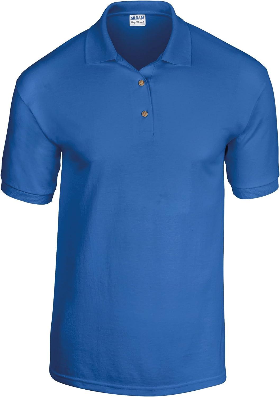 Gildan DryBlend Childrens Unisex Jersey Polo Shirt (Pack of 2) (M) (Royal)