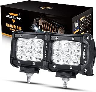 Auxbeam LED Light Bar 4 inch LED Pods 18W Driving Light 2Pcs 3W Spot Beam for Jeep, ATV, Truck, Boat