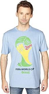 FIFA Official 2014 World Cup Brasil Logo Adult T-Shirt-Blue