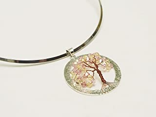TREE PENDANT, YELLOW PENDANT - SWAROVSKI CRYSTAL, YELLOW TREE PENDANT, MADE IN COSTA RICA BY GRANATE 27, TREE OF LIFE, 950 STERLING SILVER