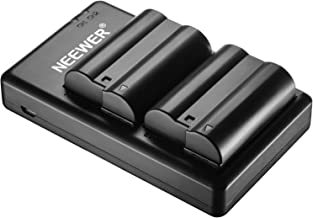 Neewer EN-EL15 EN-EL15A Battery Charger Set Compatible with Nikon d750, d7200, d7500, d850, d610, d500, MH-25a, d7200, z6, d810 Batteries (2-Pack, Micro USB Port, 2100mAh)