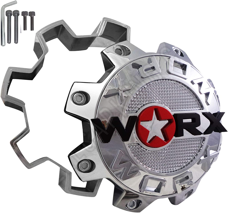 WRX-8808L Worx Alloy 8-Lug Center Chrome Max 85% OFF Miami Mall Cap