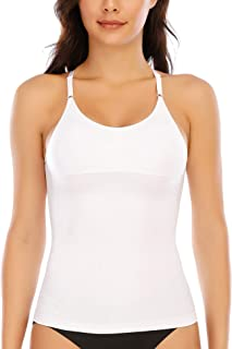 Tummy Control Camisole for Women Shapewear Tank Tops with Built in Bra Slimming Compression Top Seamless Body Shaper