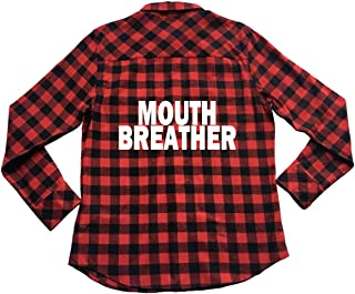 Apple Orange Gifts Mouth Breather - Unisex Plaid Flannel Shirt Stranger Things