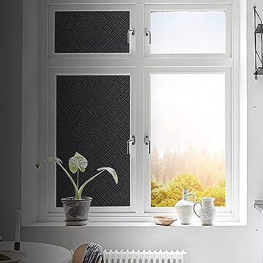 Coavas Total Blackout Window Film 100% Light Sun Blocking Window Covering Darkening Privacy Heat Control Static Cling Removab