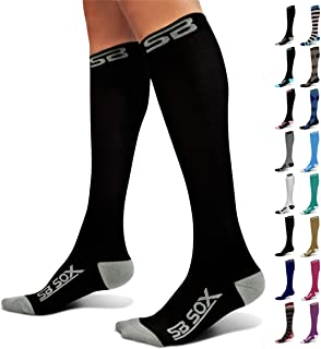 SB SOX Compression Socks (20-30mmHg) for Men & Women - Best Stockings for Running, Medical, Athletic, Edema, Diabetic, Varicose Veins, Travel, Pregnancy, Shin Splints